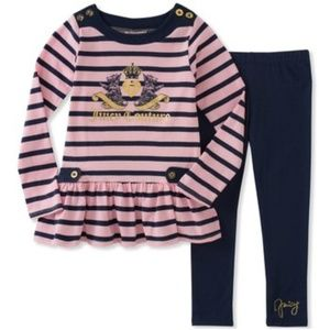 Juicy Couture 2 pc Leggings and Tunic Size 3T